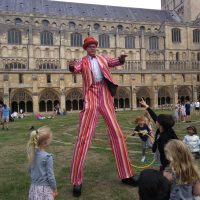 Stripey Stilts Norwich Cathedral 15th Aug 2018