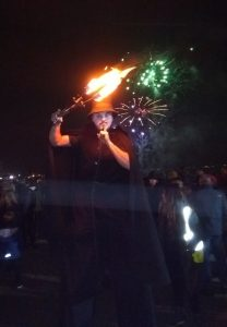 Swansea Nov 5th V faced Jules fire clubs and fireworks 1