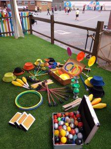 Workshop kit in school yard
